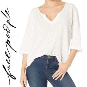 NWT Free People Head in the Clouds Solid Tee